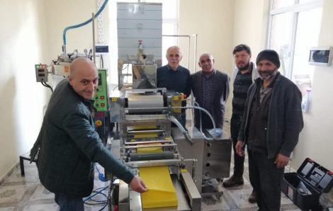 Ardahan İli Arı Yetiştiricileri Birliği-1 Sıralı Otomatik Balmumu Petek Makinesi Kurulumu