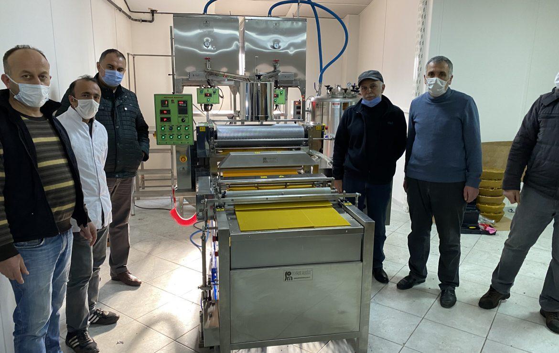 Tokat İli Arı Yetiştiricileri Birliği-3 Sıralı Otomatik Balmumu Petek Makinesi Kurulumu